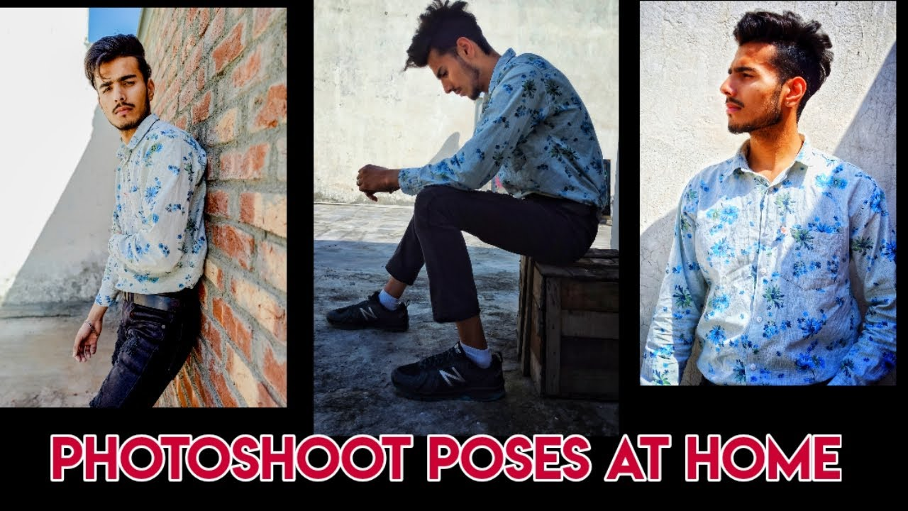 Top Poses For Boys Photoshoot At Home Mobile Photography Youtube