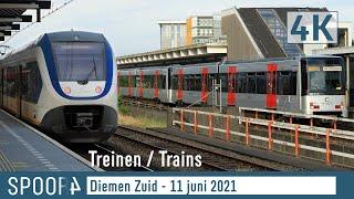 Treinen en Metro's in Diemen Zuid - 11 juni 2021