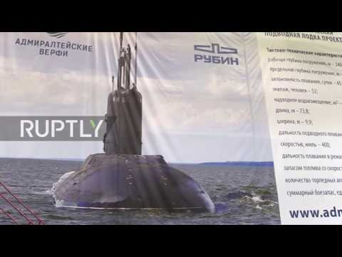 Russia: Military orchestra marks finished construction of two Pacific Fleet submarines