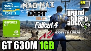 Gaming on GeForce GT 630M: GTA5, Fallout 4, DiRT Rally, AC, Mad Max