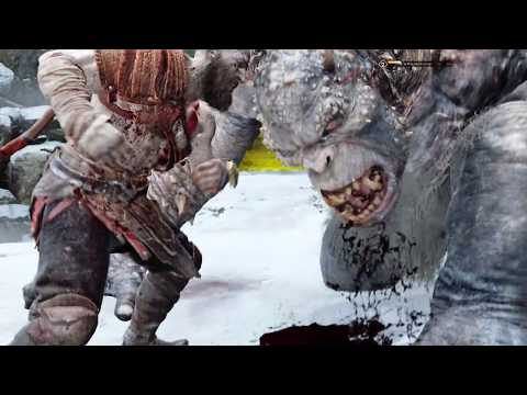 God of War 4 - Kratos vs Ogre (God of War 2018) PS4 Pro