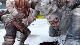 God of War 4 - Kratos vs Ogre (God of War 2018) PS4 Pro
