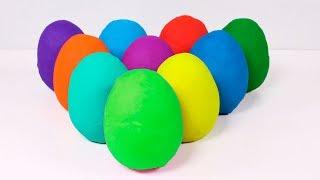 ⚡ DINO EL DINOSAURIO ⚡ Abriendo huevos sorpresas de Play Doh   Vídeos de Juguetes thumbnail