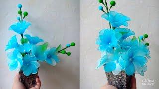 74) Ide Kreatif - Cara membuat bunga stoking yang indah dan menawan ||nylon stocking flower