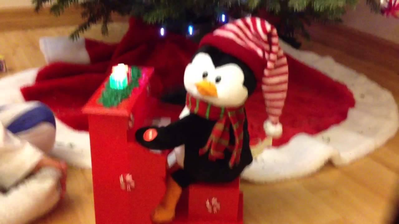 Decorate the christmas tree fa la la la - Christmas Carol Fa La La La Penguin Playing A Piano