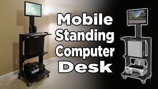Mobile Stand Up Computer Desk - 186