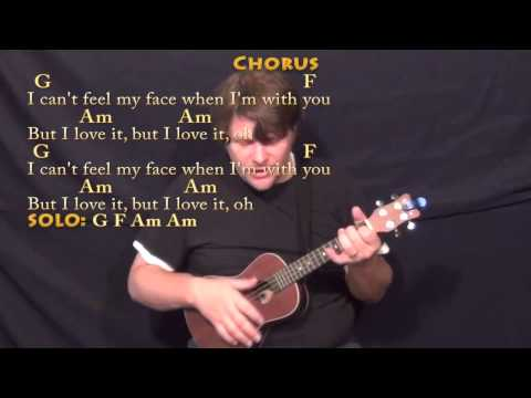 Can't Feel My Face (The Weeknd) Ukulele Cover Lesson with Chords/Lyrics