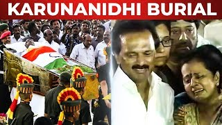 FULL HD: Karunanidhi's Body burial Video