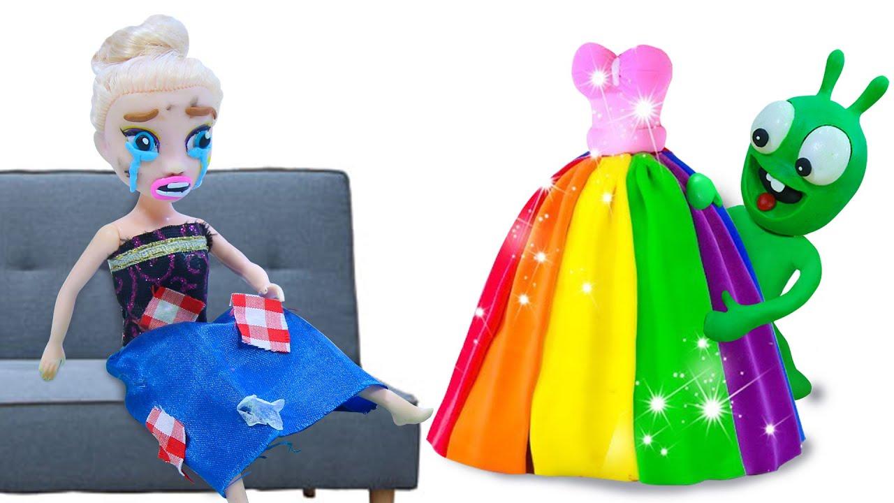 How To Make Make A Dress? - Pea Pea Funny Stop Motion Kids Cartoon