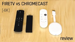 Chromecast vs Firestick comparison (4k HDR with remote)