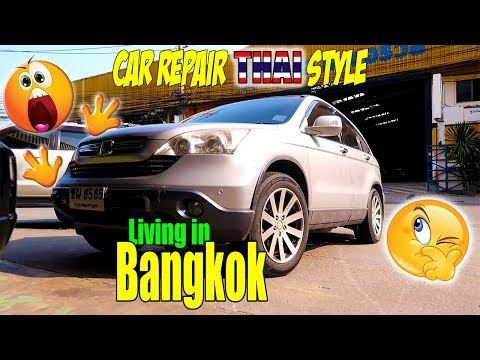 Car Repair Honda CR-V Repair Panel Workshop Garage Bangna Bangkok
