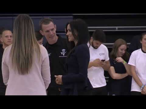 Prince harry and Meghan Markle get sporty at the Coach Core Awards