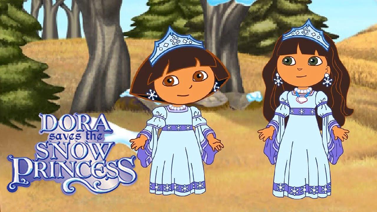 5 dora saves the snow princess video game gameplay videospiel game movie for kids youtube - Princesse dora ...