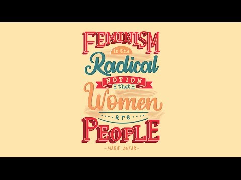 Speed Art   Feminism Is The Radical Notion That Women Are People