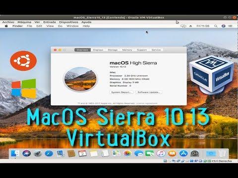 Instalar Mac OS High Sierra10.13 En VirtualBox 5 Y VirtualBox 6