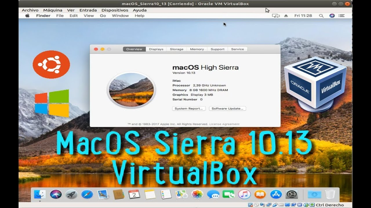 Instalar Mac OS High Sierra10 13 en VirtualBox 5 y VirtualBox 6