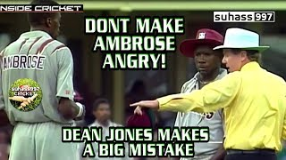 Dont make AMBROSE angry! WORLD SERIES FINAL - Dean jones makes a big mistake