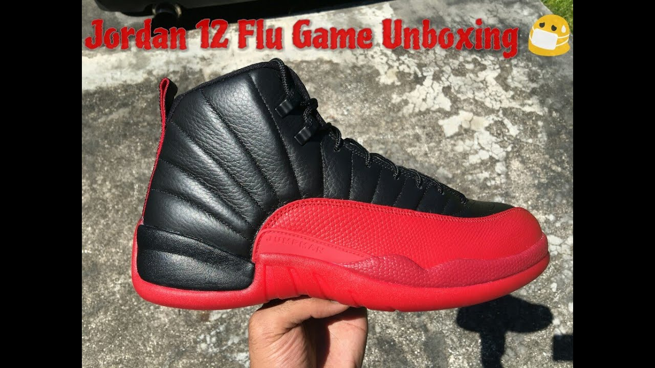Jordan 12 Flu Game Unboxing HD
