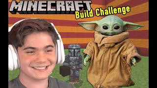 Minecraft Build Baby Yoda Challange with HobbyGaming