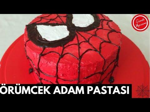 Örümcek Adam Pastası-Doğum Günü Pastası-Spiderman Cake