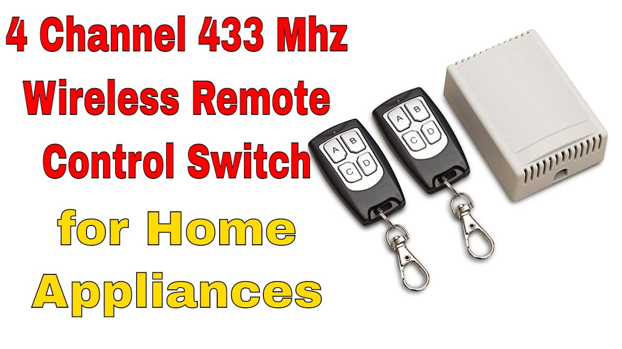 4 Channel Wireless Switch Gv Rk04s 12 With Two 433 Mhz Remotes Youtube Projectsprogramming And Many More 433mhz Remote Control