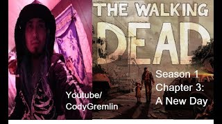 """THE WALKING DEAD GAMEPLAY / VLOG SEASON 1 """"A NEW DAY"""" CHAPTER 3 A TELLTALE SERIES"""