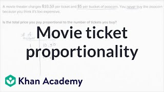 Movie Ticket Proportionality | 7th Grade | Khan Academy