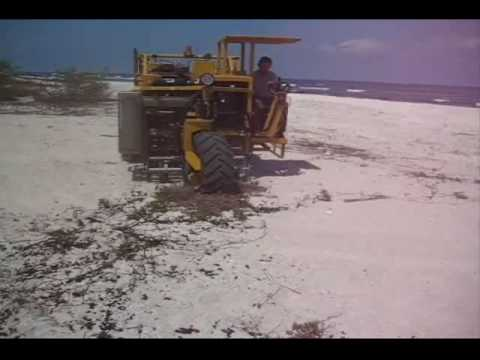 Cherrington 5000 Sifting Out Beach Grass & Large Amounts Of Coral Rock
