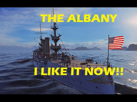 WORLD OF WARSHIPS   USS ALBANY - ITS NOT SO BAD! (LIVE GAMEPLAY)