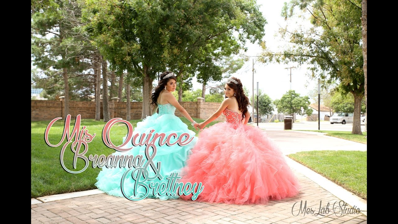 a02ec697a5b Breana and Brettney twins Quinceanera - YouTube
