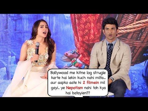 Sara Ali Khan's sh0cking response on getting bollywood movies Kedarnath & Simba bcoz of nepotism