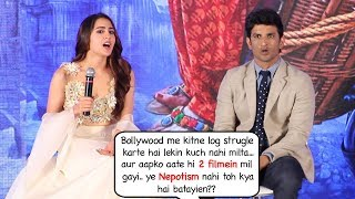 Sara Ali Khan's sh0cking response on getting bollywood movies Kedarnath & Simba bcoz of nepotism