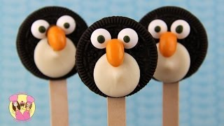 PENGUINS OF MADAGASCAR OREO POPS - Kids Party Food Idea From Charlis Crafty Kitchen