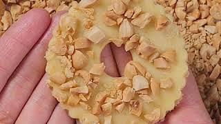 Песочные кольца с арахисом | Рецепт песочных коржиков с арахисом