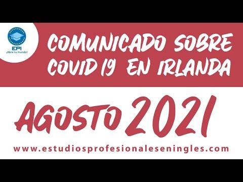Noticias sobre el COVID-19 en Irlanda para Agosto 2021