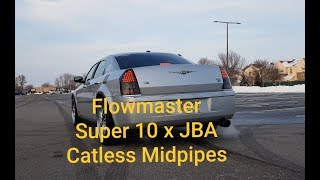 Flowmaster Super 10 x JBA Catless Midpipes Startup, Rev, Drive by Chrysler 300C