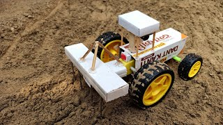 How To Make a Tractor With Cultivator | Electric Colgate Tractor DIY - डिब्बे का ट्रैक्टर जोतने वाला