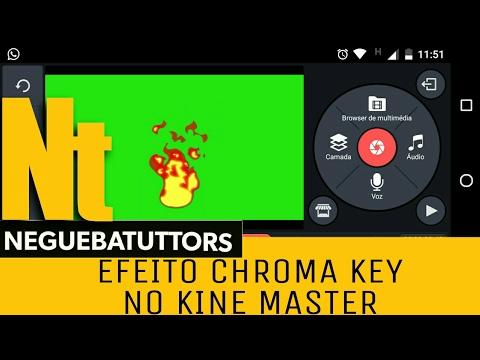 EFEITO CHROMA KEY NO KINE MASTER // TUTORIAL
