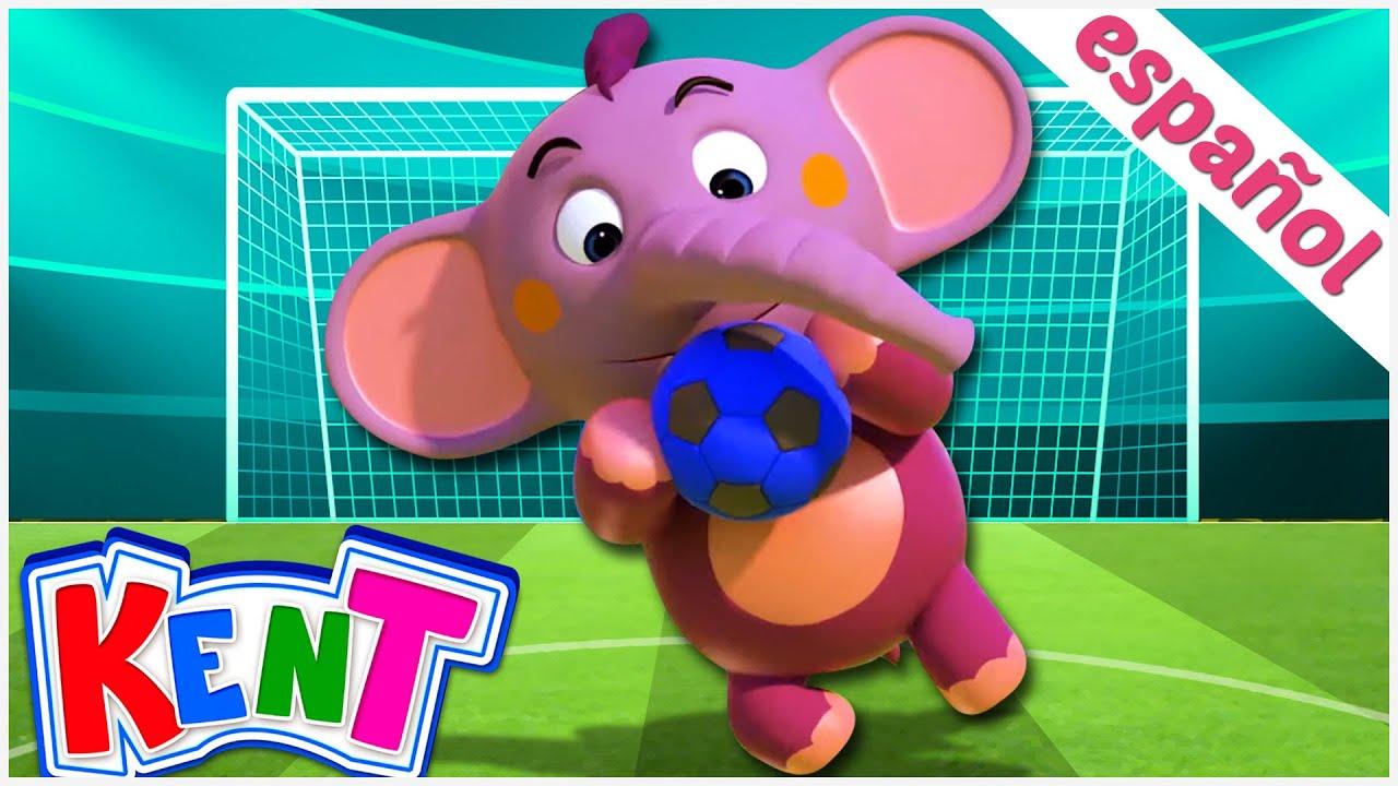 Kent el Elefante | Juego de futbol entre Kent y Luke para meter goles y aprender colores