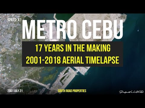17 Years Aerial Timelapse of Metro Cebu 4K