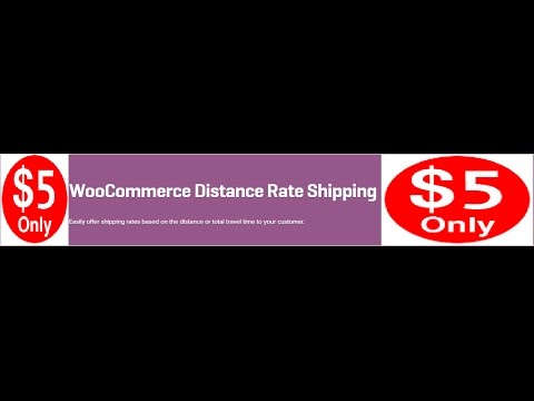 WooCommerce Distance Rate Shipping 1.0.6 Extension
