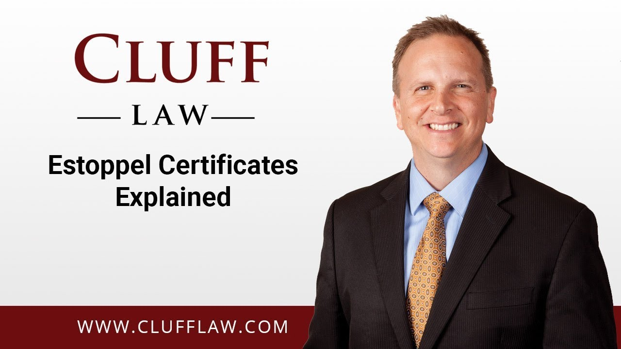 Estoppel Certificates Explained Youtube