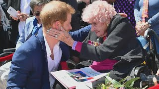 Prince Harry Again Reunites With 98-Year-Old War Widow in Australia