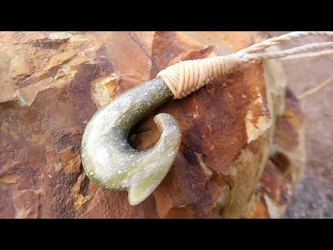 Dad Carves a Maori Style Fish Hook For My Son From Stone - Inspired By Maui and The Movie Moana