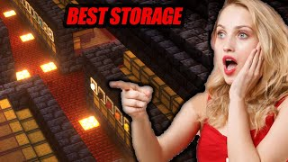 My Minecraft Storage System Makes All Girls Go Crazy - - Minecraft Hardcore #17