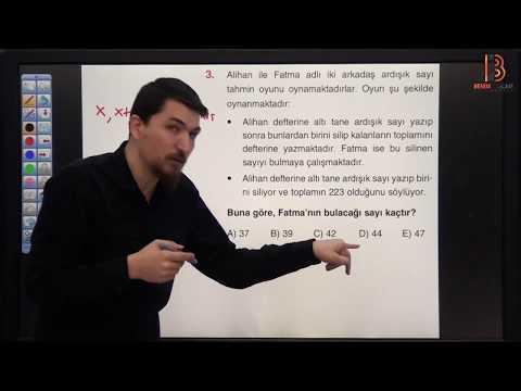 10) İlyas GÜNEŞ - Ardışık Sayılar TEST - III (TYT Matematik Soru Çözüm) 2019