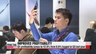 Samsung Electronics′ profits continue to improve in Q1   삼성전자 1분기 성적, ′수익성′ 개선세