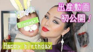 ひまちゃん一歳になりました!出産動画初公開