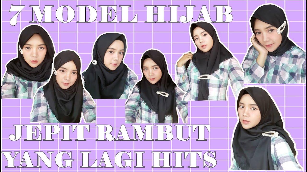 Tutorial Hijab Segi Empat Menggunakan Jepit Rambut Korea Youtube