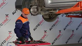 How to change front suspension rear lower arm on VW TOURAN 1T1, 1T2 [TUTORIAL]